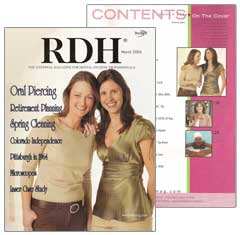 Cover of RDH Magazine March 2006